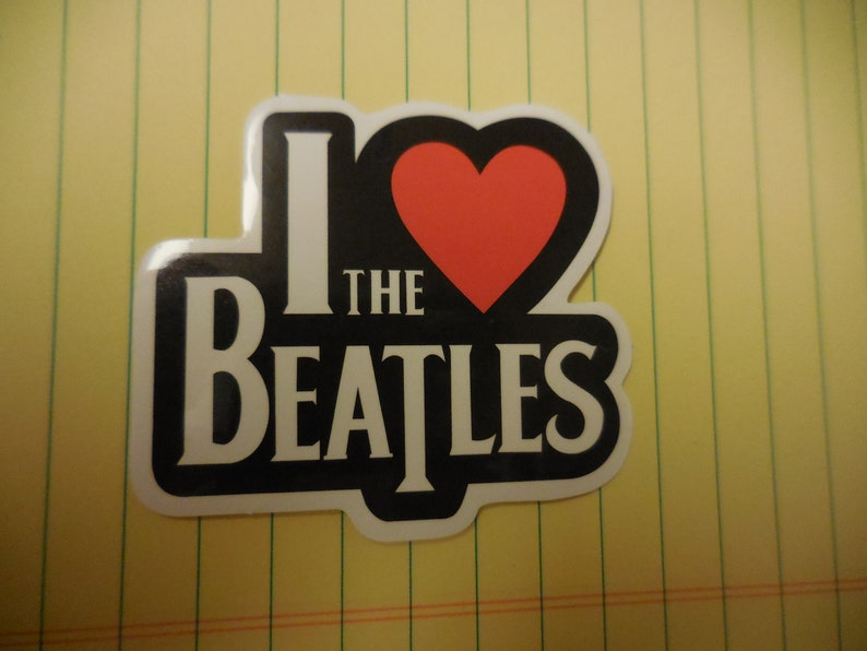 Small Bumper Sticker Decal All We Need Is Love Beatles Lennon Heart