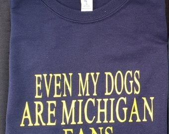 2122090d3b2f Michigan dog mom, Michigan dog dad, Michigan football, Wolverines, Michigan  fan, football tshirt, dog mom tshirt, dog dad tshirt