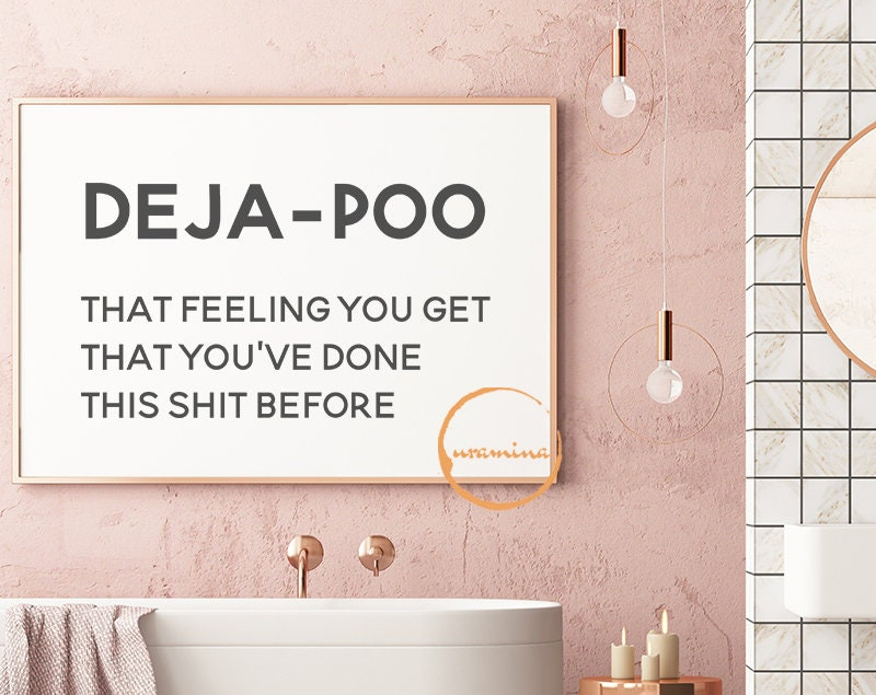 Lustige Badezimmer SVG Home Dateien für Cricut Silhouette geschnitten. Deja  Poo-Wand-Kunst-Dekor. Bauernhaus-Dekor-Svg. WC-Schilder. Toilette Druck.