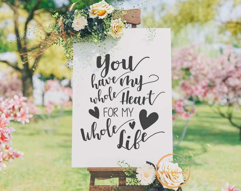 You Have My Whole Heart For My Whole Life Svg Cut Files Etsy