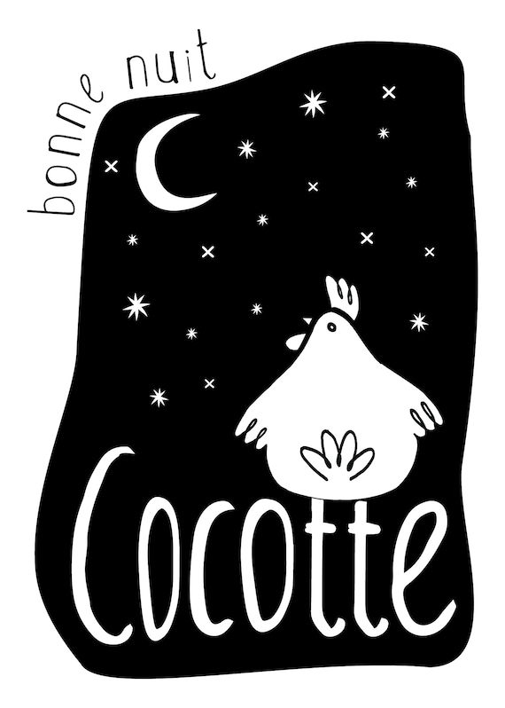 Bonne Nuit Cocotte Poster French Quote French Poster Etsy