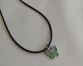 Green Butterfly, earring and Necklace set