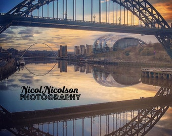 Spring sunrise at the Tyne Bridge, Newcastle/Gateshead, England