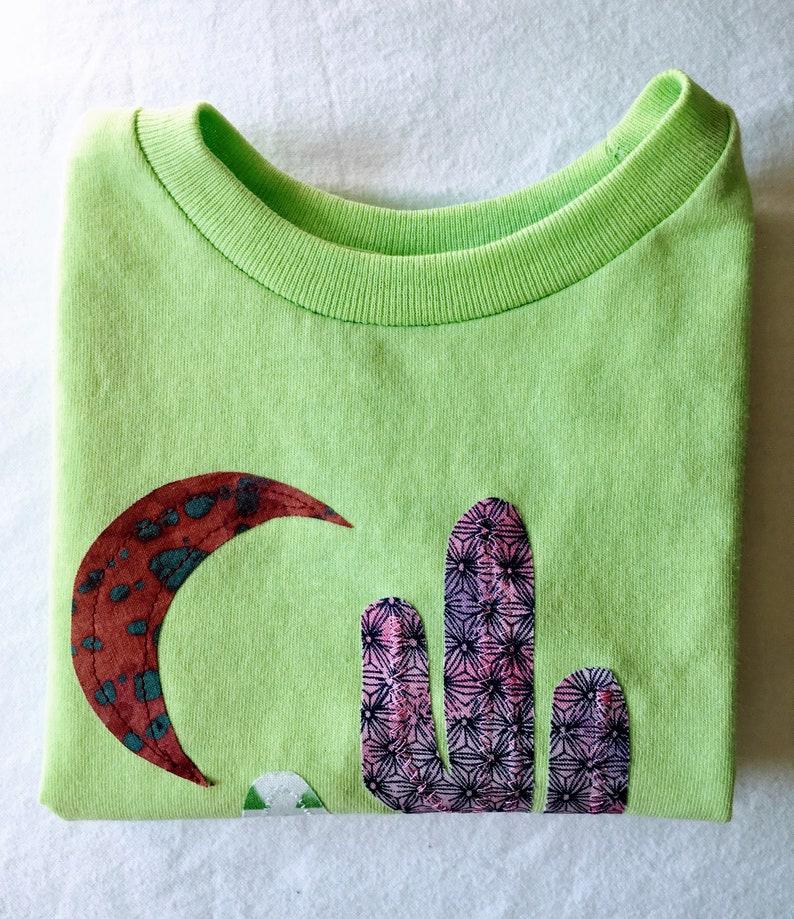 d16886b2ab Lime Green Desert Shirt Kids Play Shirt Saguaro Cactus