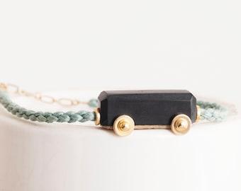 Unique Gifts, Art Jewelry, Marble Bracelet, Unique Jewelry, Train Jewelry, Stone Bracelet, Meditation Bracelet, High End Jewelry, Poetic