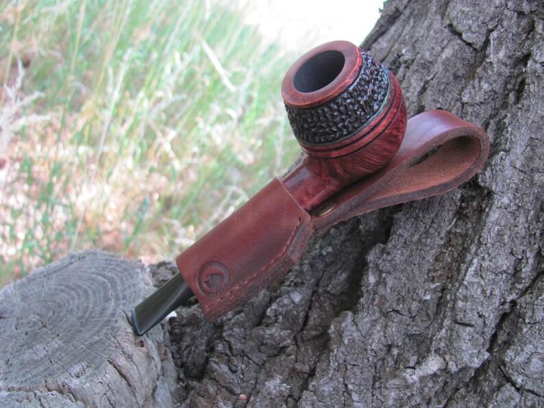 Bulldog Briar Pipe Rustic Briar Tobacco Pipe 9 mm Filter Pipe,Partly Ructic Briar Smoking Pipe