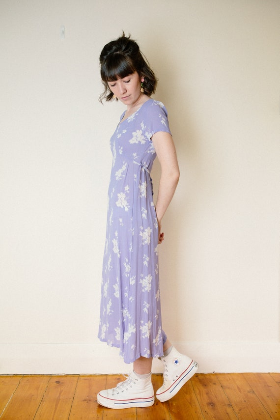Vintage Lilac Purple Floral Dress - image 4