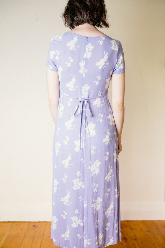 Vintage Lilac Purple Floral Dress - image 6