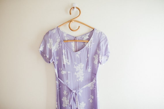 Vintage Lilac Purple Floral Dress - image 5