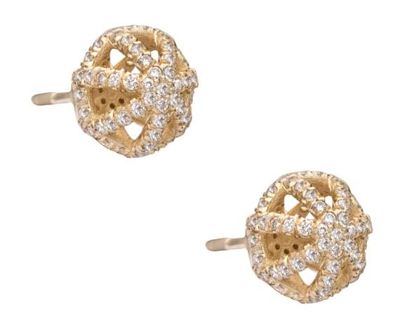 5 ct Coussin Diamant Clous Boucles d/'oreilles fantaisie homme blanc en 14k or Massif W Y ou R