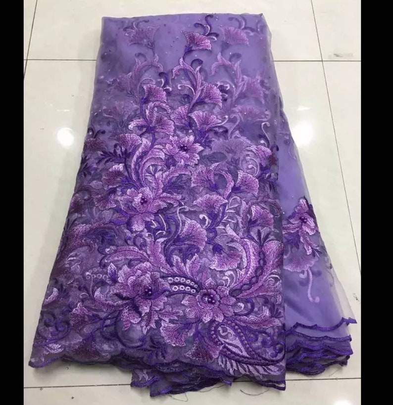 2019 Latest African Lace Fabric Pink Tulle Lace Fabric With Beads High Quality African Nigerian Wedding Fabric FREE DELIVERY