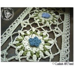 Primrose table runner - tablecloth - Guipure lace - CROCHET PATTERN - Instant Download PDF