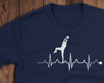 04f0bfc9 Funny Volleyball t shirt Heartbeat Pulse Men Women TShirt Christmas  Birthday Gift Unisex T-Shirt Birthday Gift Christmas Halloween