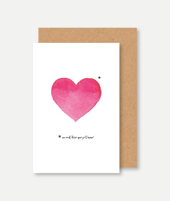Valentines card Valentine/'s Day card shifted I love you card Valentine/'s Day card cake Card I LOVE YOU love card food card