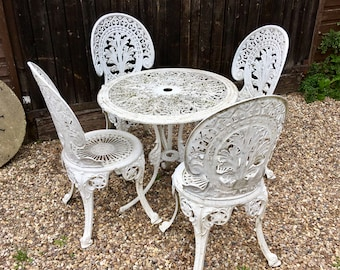 5faef5a507f8 Pretty, Vintage Traditional Patio Garden Table & Chairs Country House