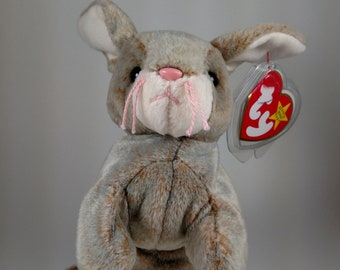 Vintage Beanie Baby NIBBLY the Bunny Rabbit MINT with tag in Heart  Protector May 7 fca5316cdd03