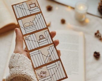 2022 Bookshelf Tracker Bookmark (Book Tracker Bookmark) 100 spines