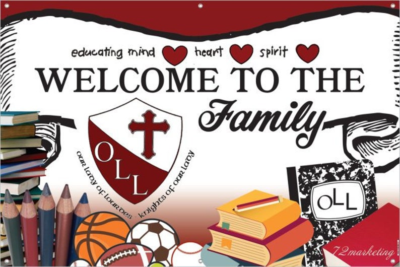 Custom Welcome Back School Classroom Teacher Theme Party Banner!