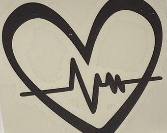 Heart Beat Decal