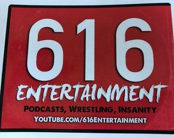 616Entertainment Logo Sticker