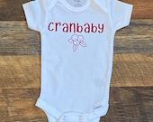 Custom Baby Boy Onesie, Funny Onesie, Cranbaby,Cranberry, Cape Cod, Personalized Onesie, Boston Onesie, Massachusetts Onesie