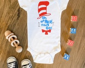 Oh the Places You'll Go,  Dr. Seuss, Dr. Seuss Onesie, Custom Baby Onesie, Boy Onesie, Girl Onesie