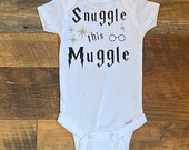 Harry Potter Onesie, Snuggle Onesie, Muggle Onesie, Harry Potter Baby Onesie, Baby Shower Gift, Baby Boy, Baby Girl,Personalized