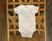 Snuggle Time Onesie, Unisex Onesie, Rae Dunn Font Onesie, Rae Dunn Inspired, Backup Onesie, Personalized Onesie, Snuggle Onesie, New Baby