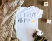 Little Ray of Sunshine Onesie, Unisex Onesie, Rae Dunn Font Onesie, Rae Dunn Inspired, Backup Onesie, Personalized Onesie, New Baby Onesie