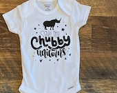 Save the Chubby Unicorns, Rhino Onesie, Funny Baby Onesie, Personalized Onesie, Baby Boy, Baby Girl, Baby Shower Gift