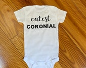 Cutest Coronial, Pandemic Onesie, Custom Baby Boy Onesie, Funny Onesie, Backup Onesie, Personalized Onesie
