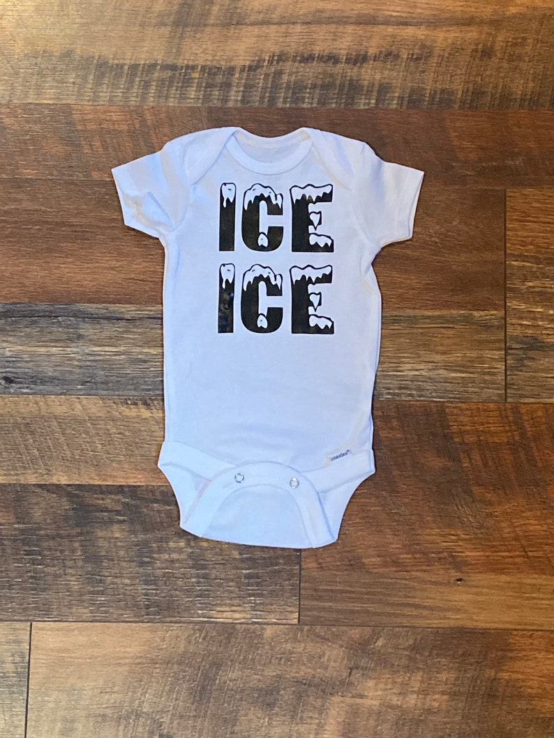 Ice Ice Baby Custom Baby Onesie Funny Onesie Personalized image 0