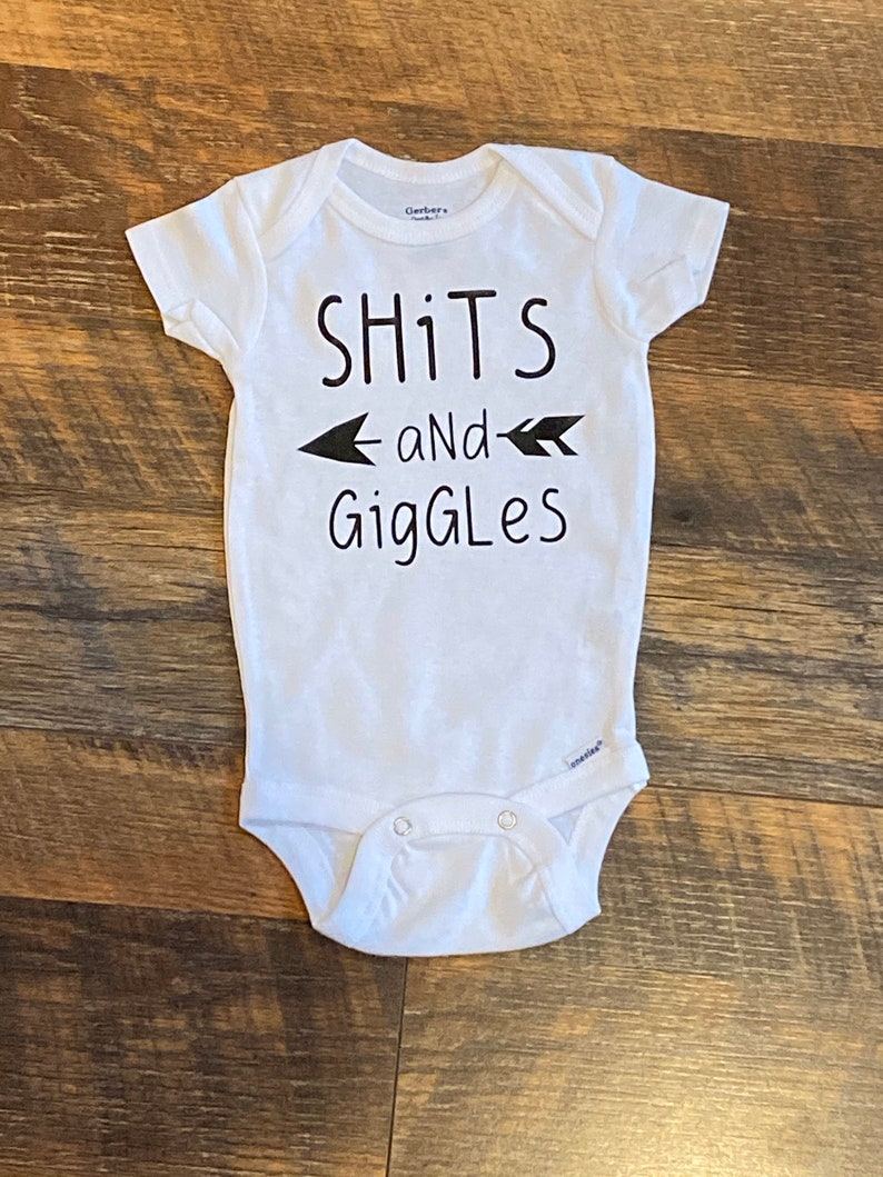 Shits and Giggles Funny Baby Onesie Custom Baby Onesie image 0