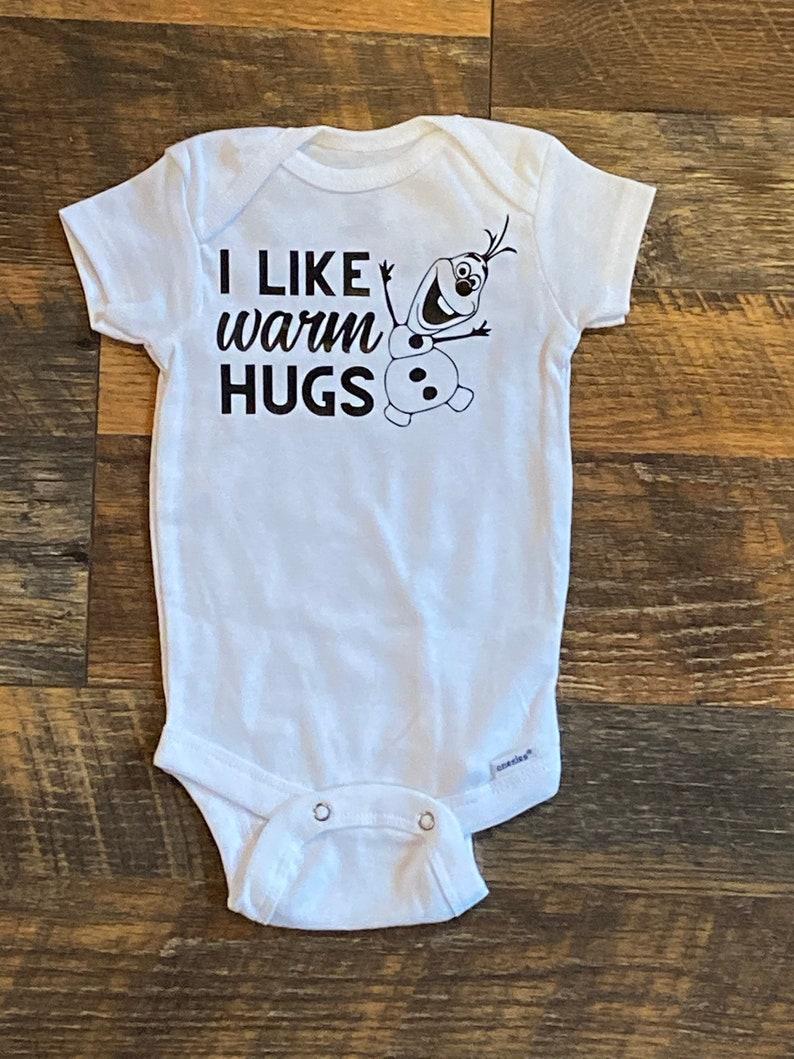 I like Warm Hugs Disney Baby Onesie Frozen Olaf Onesie image 0