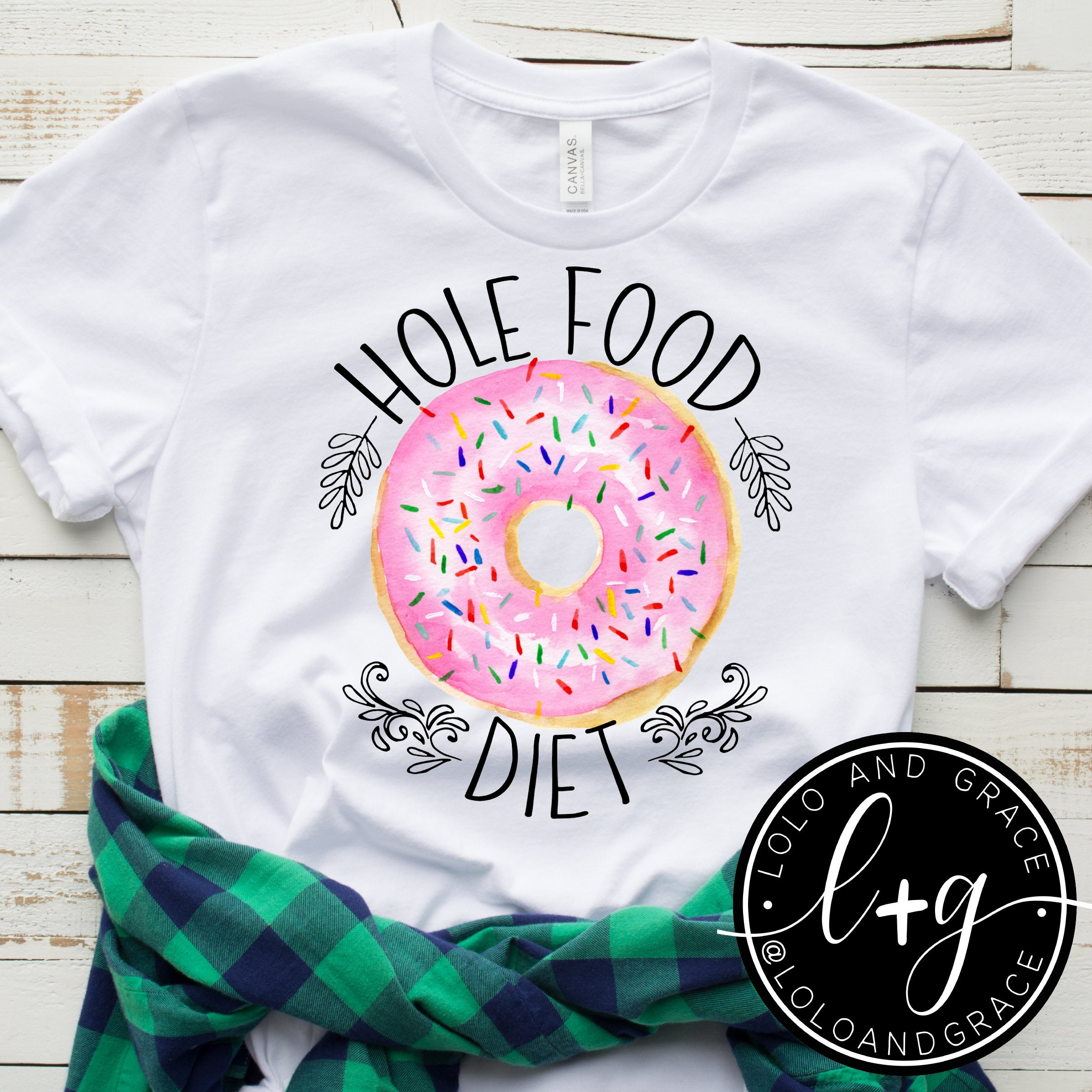 6c0160121 Funny Donut T-Shirt / Funny Diet Shirt / Funny Graphic Tees | Etsy