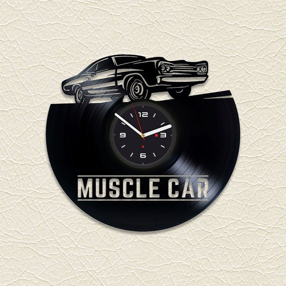 736ec6eff9719 Vinyl Clock Car Guy Gift Mens Gift Vinyl Record Clock Unique