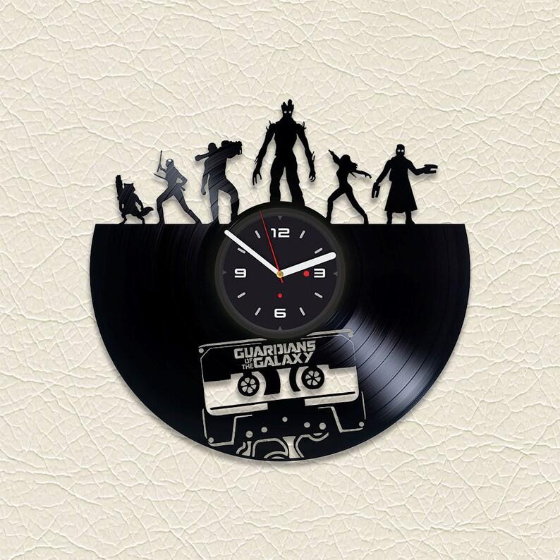 0f5681c9 Guardians Galaxy Best Friend Gift Superhero Space Vinyl Record Clock Black  Clock Groot Vinyl Record Art Modern Wall Clock Vinyl Clock