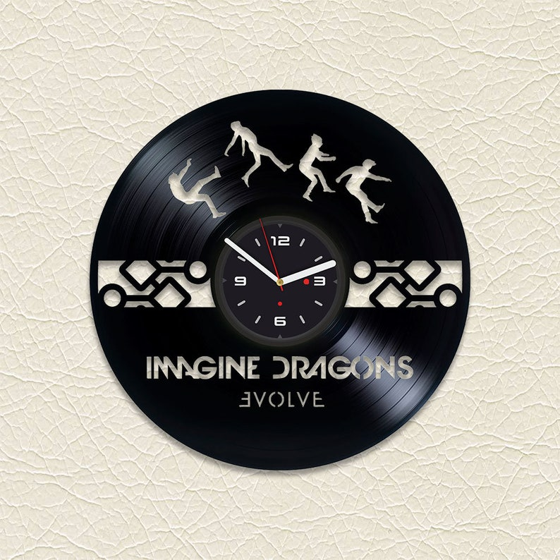 imagine dragons best friend gift wall decor vinyl record clock | etsy