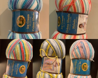 Knitting Yarn Ice Yarn Brand Fiammato Wool Acrylic Blend Yarn Tan//Taupe