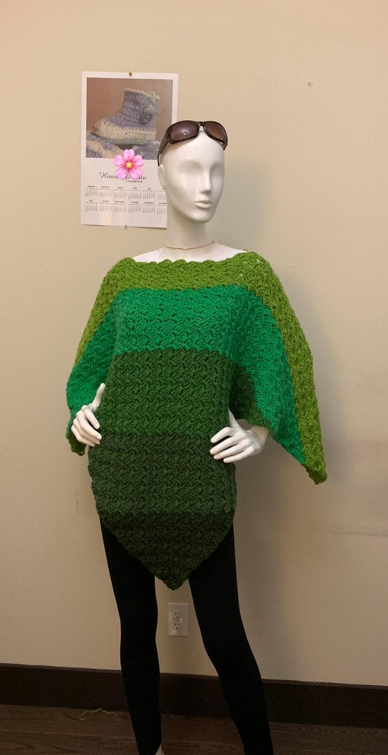 Crochet C2C Gradient Poncho