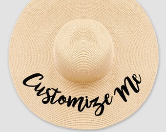 Custom Floppy Beach Hat    Women s Summer Floppy Straw Hat f0ce4dc3c81