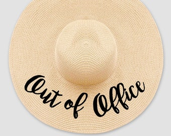d04b799fa97 Out of Office    Women s Summer Floppy Straw Hat