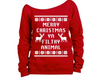 funny christmas sweaters etsy