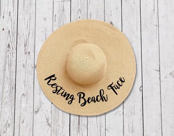 Resting Beach Face Floppy Hat    Women s Summer Floppy  0bf524113a9