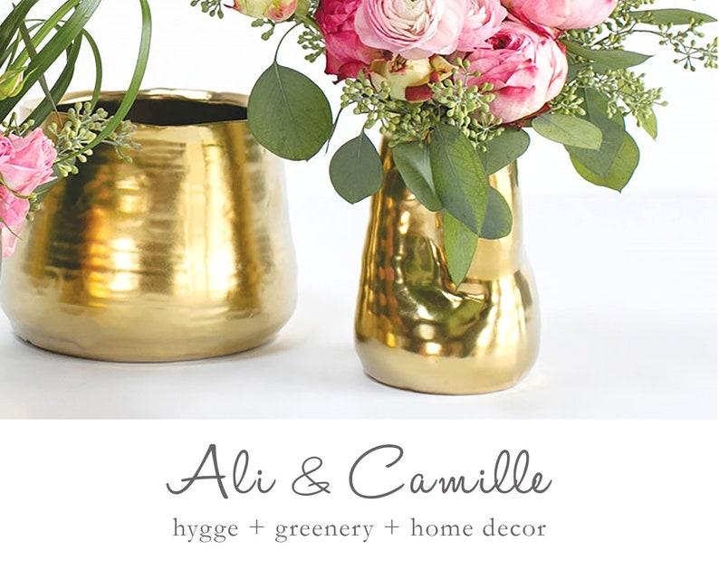 Marvelous Gold Vase 5 Sizes Matte Gold Ceramic Vase Vase For Centerpiece Gold Decor Modern Christmas Flower Vase Rustic Vase Tall Vase Download Free Architecture Designs Sospemadebymaigaardcom