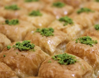 Tray of Baklava with Pistachios