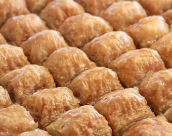 Tray of Baklava with Walnuts