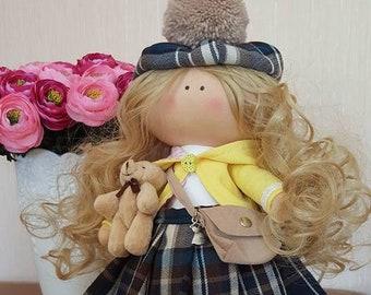 Rag doll, fabric doll,  american doll, handmade doll, rag doll, dolls, Large Rag doll,  fabric doll, dolls handmade,