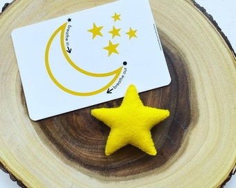 Bedtime Mindfulness and Affirmation Card and Star