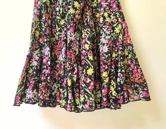 Black Floral Print Slip Dress - image 5